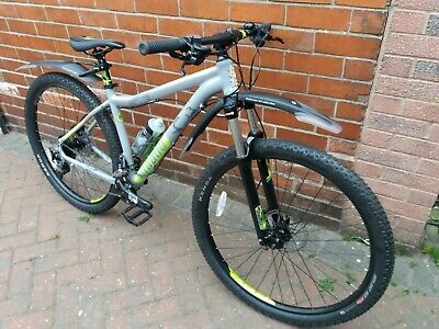 "New Voodoo Aizan 29er Mountain Bike - 18""Grey Silver Neon Green"