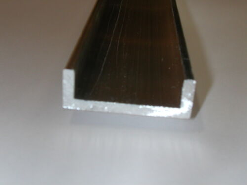 Aluminum Architectural Channel .125 x 0.5 x 1.5 x 0.5 x 48 in. 6063 UAAC