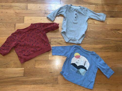 Lot Of 3 Gymboree Baby Boys Size 0-3 Months Top Bodysuit Shirt