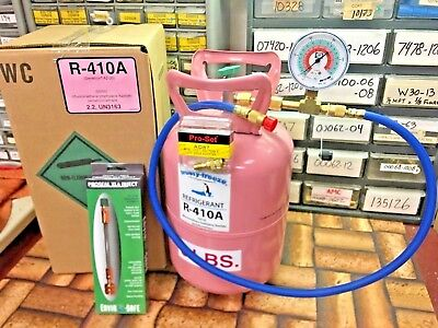 R410a, Refrigerant, 5 lb. Can, Hose, ProSeal XL4 Leak Stop, Free Shipping, GAUGE for sale  Shipping to Canada