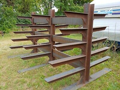 Steel Metal Storage Rack Well Built Strong Heavy Duty Double Sided.