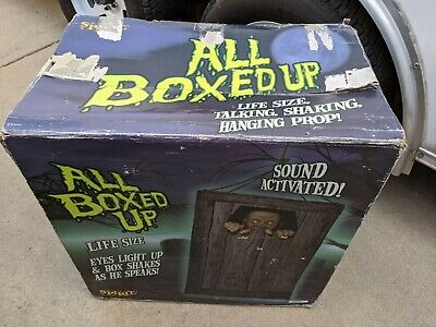Spirit Halloween all boxed up animated sound lights