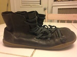 Quality Black Leather Ankle Boots by Camper Size 40 (9.5) Peterborough Peterborough Area image 3