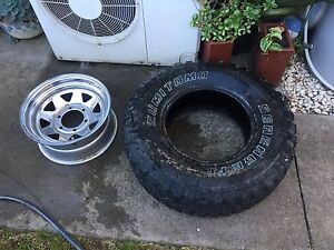 $50 15x10.5  mud tyre and Sunraysia Rim Blacktown Blacktown Area Preview