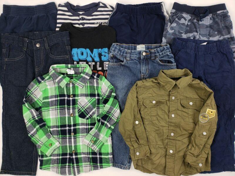 3t Boys Clothes Lot Oshkosh Place Calvin Klein Etc Outfit Jean Plaid Collar Pant