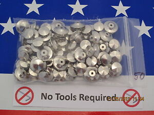 50 Locking Pin Backs - LOW PROFILE - Best Avail - NO TOOLS req'd- for Disney pin