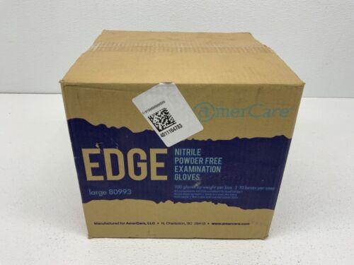 AmerCare 80993-C Edge Indigo Powder Free, Soft Nitrile Gloves Large, (1000 pack)