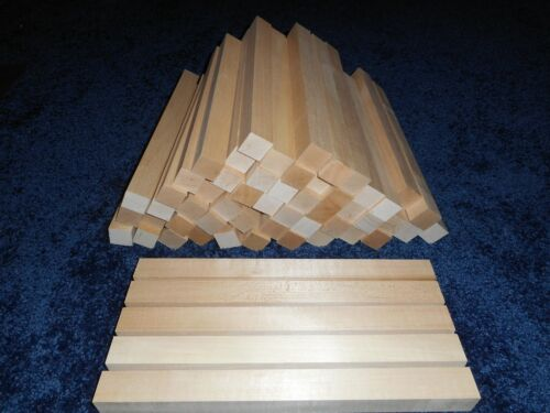 "1"" x 1"" x 12"" Basswood Carving Wood Blocks Craft Lumber *KILN DRIED*"