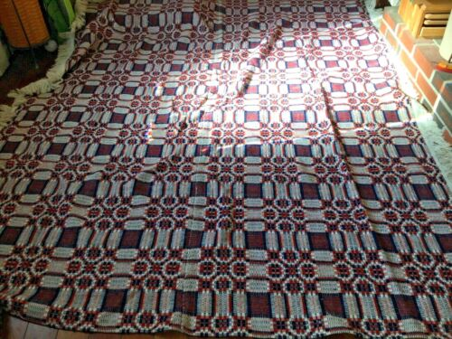coverlet red and white and blue look great 75 x 97 inches