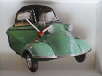 Classic Messerschmitt Three Wheeler Car In Green Wall Clock. And Boxed. - unbranded/generic - ebay.co.uk