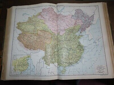 1919 VICTORY ATLAS OF THE WORLD by GROSS DAILY TELEGRAPH CHINA RUSSIA USA WORLD
