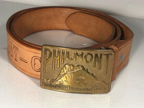 Vintage Boy Scout Belt w/ PHILMONT Ranch Belt Buckle Cimarron New Mexico Size 40