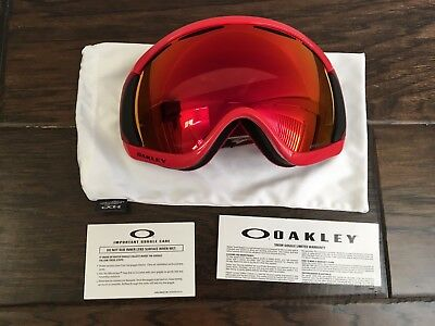 Oakley Canopy Red Oxide Prizm Torch Iridium Ski Snow Snowboard Goggles for sale  Sunnyvale
