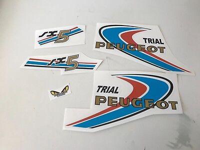 kit autocollant stickers Peugeot SX5 CROSS ou TRIAL.