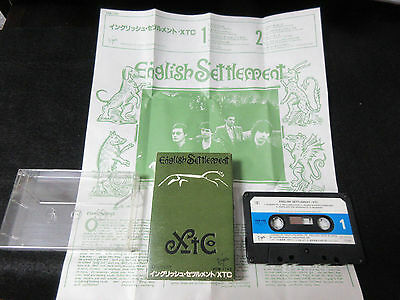 XTC English Settlement Japan Cassette Tape in 1982 Andy Partridge New Wave