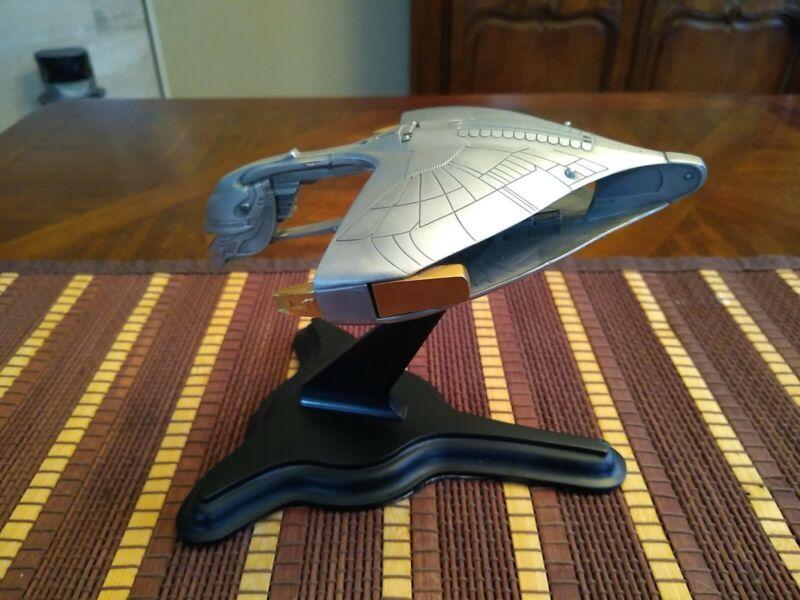 Franklin Mint Star Trek Pewter Romulan Warbird W/ Stand