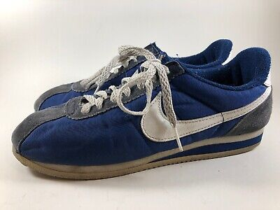 True Vintage Nike Trainers Shoes 1970s-1980s Blue White Athletic Sneakers