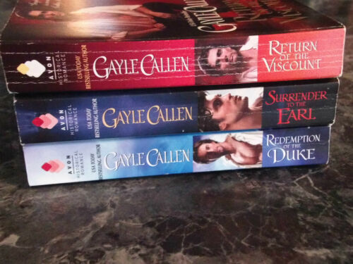 Gayle Callen lot of 3 Brides of Redemption series historical romance paperbacks