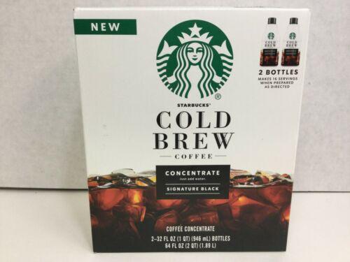 Starbucks Cold Brew Concentrate, Signature Black, 32 FL OZ, 2 Bottles, 12/2020