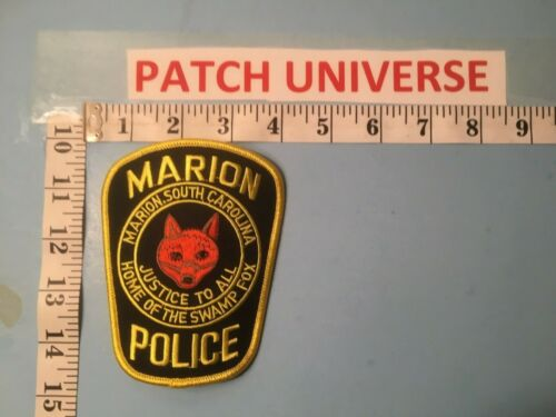 MARION SC POLICE HOME OF THE SWAMP FOX  SHOULDER PATCH  G079