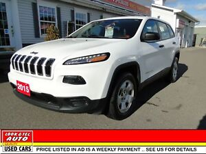 2015 Jeep Cherokee  you're approved $91.07 a week tax inc.  Spor