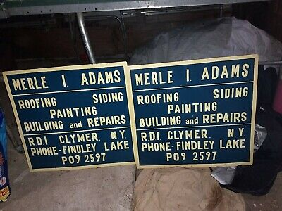 Metal Sign Advertisement Handyman 1960s Roofing Siding Painting Building And...