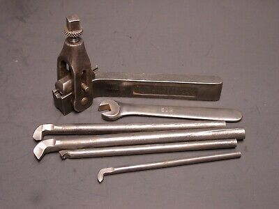 Armstrong No.15 Metal Lathe Boring Tool Holder With Boring Bars And Wrench