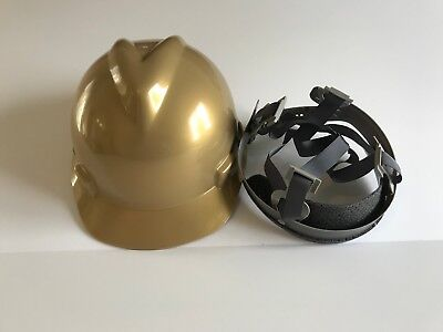 Msa 464852 Gold V-gard Slotted Hard Hat Protective Cap Staz-on Suspension