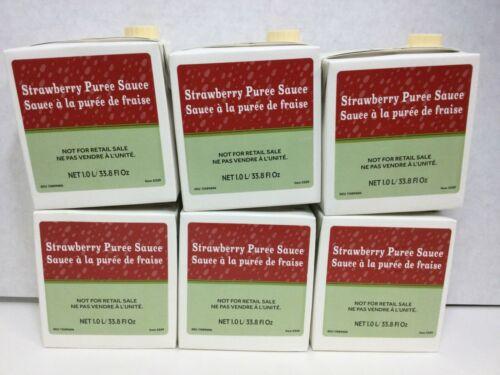 Starbucks Strawberry Puree Sauce Refresher Drink Tea 33.8oz, CASE OF 6, OCT/2020