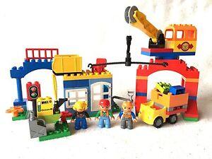 LEGO® DUPLO aus Set 10508 Gebäude mit Kran, Steinbruch, 3 Figuren, Tanke NEU