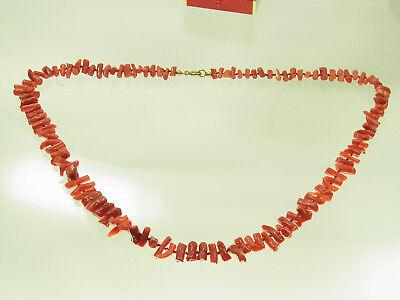 Schöne Korallenkette mit Golddoubleschloß ca 53 cm lang