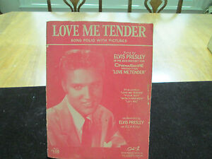 1956 Elvis Presley Sheet Music