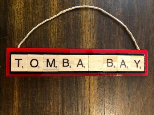 Tompa Bay Tampa Bay Buccaneers Christmas Ornament Tom Brady Gronk Scrabble Tiles