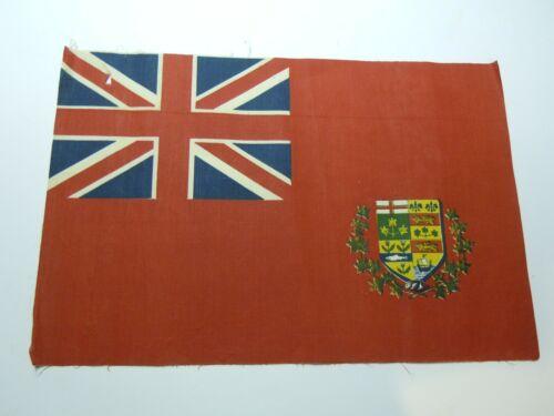 "Antique British Empire Canada Flag Union Jack Flag 14 3/4"" X 9 3/4""  Vintage old"