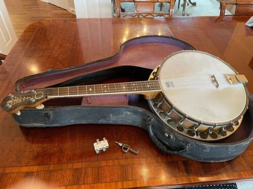 "Tenor ""Magic Wonder"" Banjo Bruno NY 1920s with Original Case"