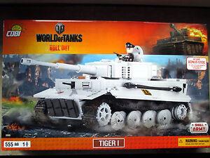 COBI 3000 PzKpfw VI Tiger I WoT-Series 555 Bausteine/1 Figur Voll Kompatibel-NEU