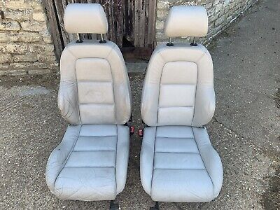 Audi TT Mk1 Ivory Silver Grey Leather Seats Front Only VW Transporter