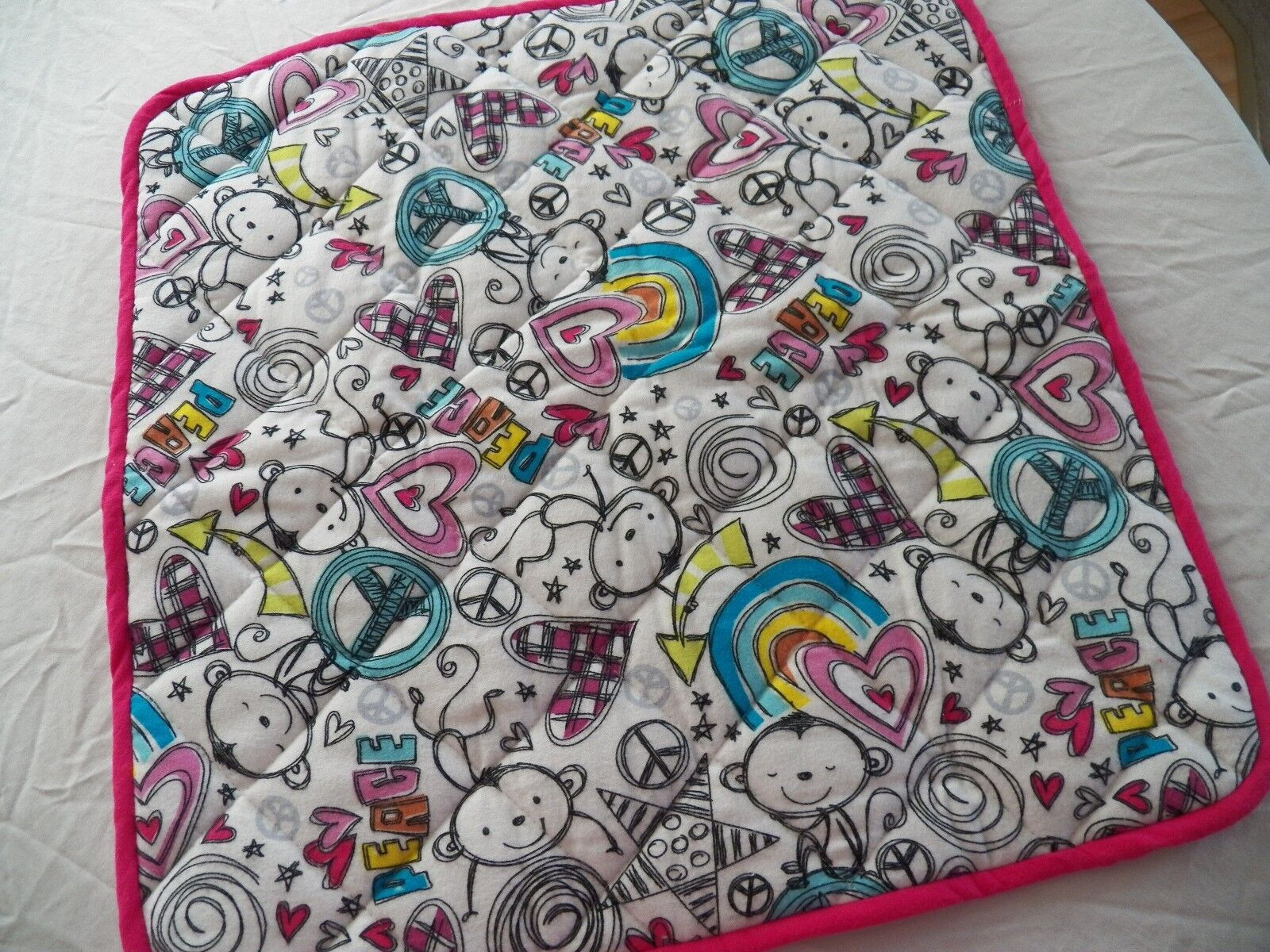 BABY CHANGING PAD Portable Diaper Travel Mat Cotton Washable Padded Handmade NEW 9