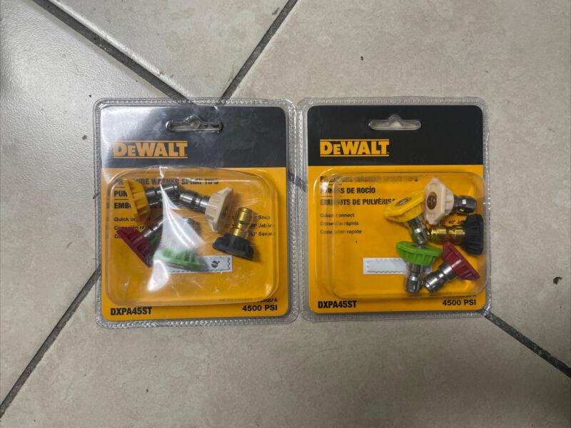 ((2)) DEWALT DXPA45ST Pressure Washer Nozzle 5 Pack Quick Connect (4.0 4500PSI)