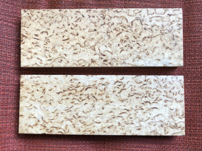 Russian Karelian Masur Birch Puukko knife scales blanks