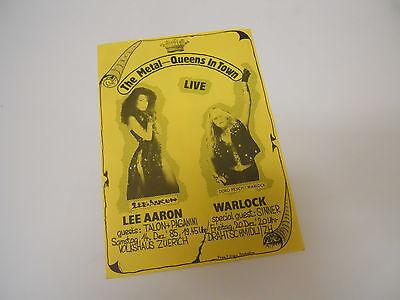 WARLOCK  /  LEE   AARON   4   PAGE   FLYER   1985