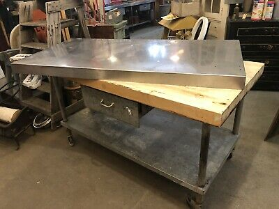60 Restaurant Kitchen Butcher Block Prep Station With Stainless Top Accessory