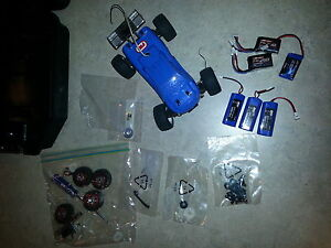 Losi micro truggy 1/24 scale rc car + extras
