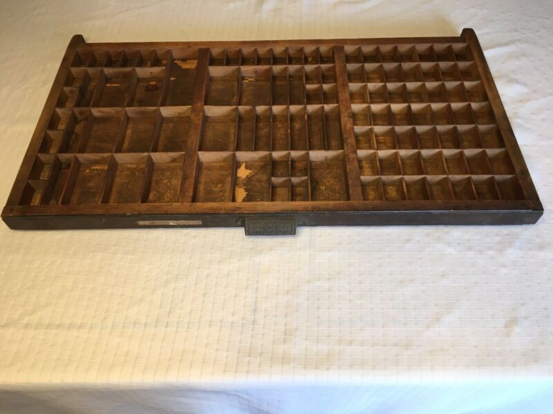 Vintage The Hamilton Manufacturing Co. Type Setters Drawer 17 x 32 Display Box