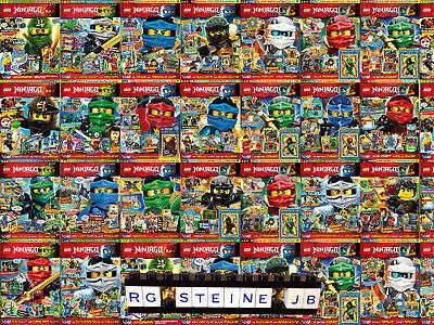 Lego® Ninjago™ 18 verschiedene Magazine Hefte Comics Heft Poster Magazin blue