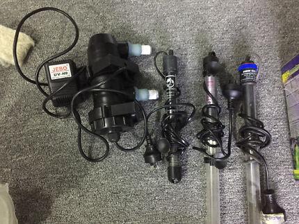 Eheim heater 300w, Aqua one, aqutopia, jebo UV 9w
