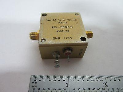 Mini Circuits Rf Amplifier Frequency Zfl-500hln Bink1-12