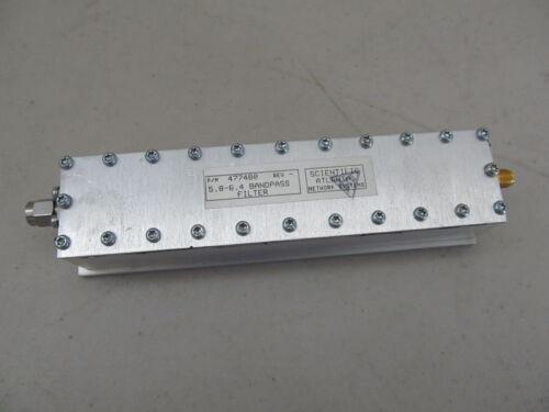 Scientific Atlanta Microwave Filter Bandpass 5.8 - 6.4 GHz SMA RF LAB HAM RADIO
