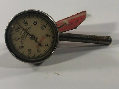 Starrett No. 196 Jeweled Dial Indicator With Back Plunger .001 Usa Athol Gauge