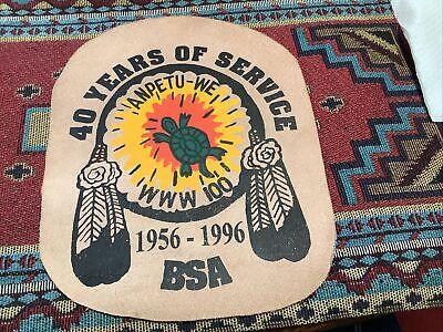 OA Lodge 100 Anpetu-We 40th Anniversary 1996 Leather Jacket Patch